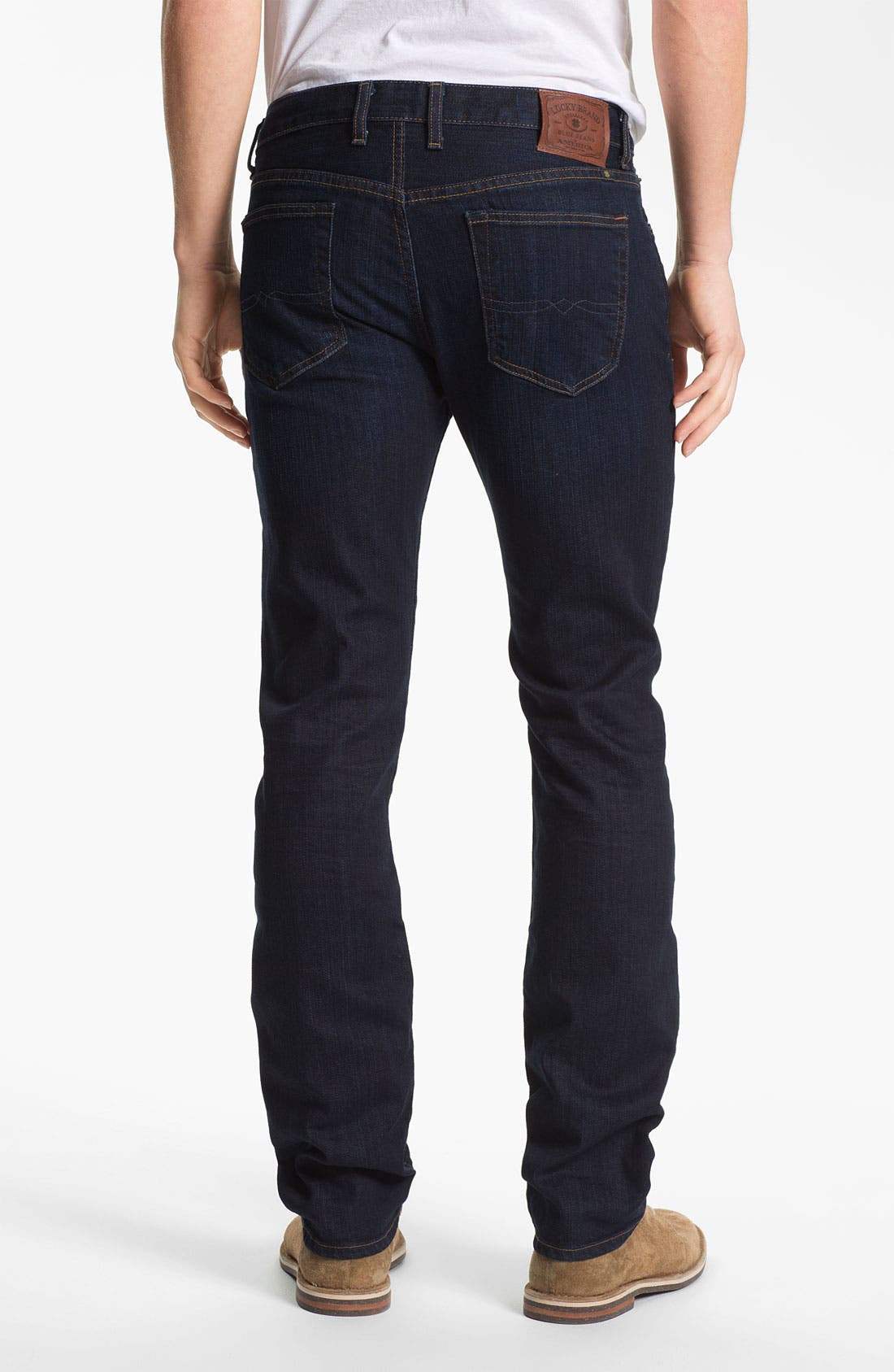 Alternate Image 2  - Lucky Brand 'Dean' Straight Leg Jeans (Dark Stevie) (Online Only)