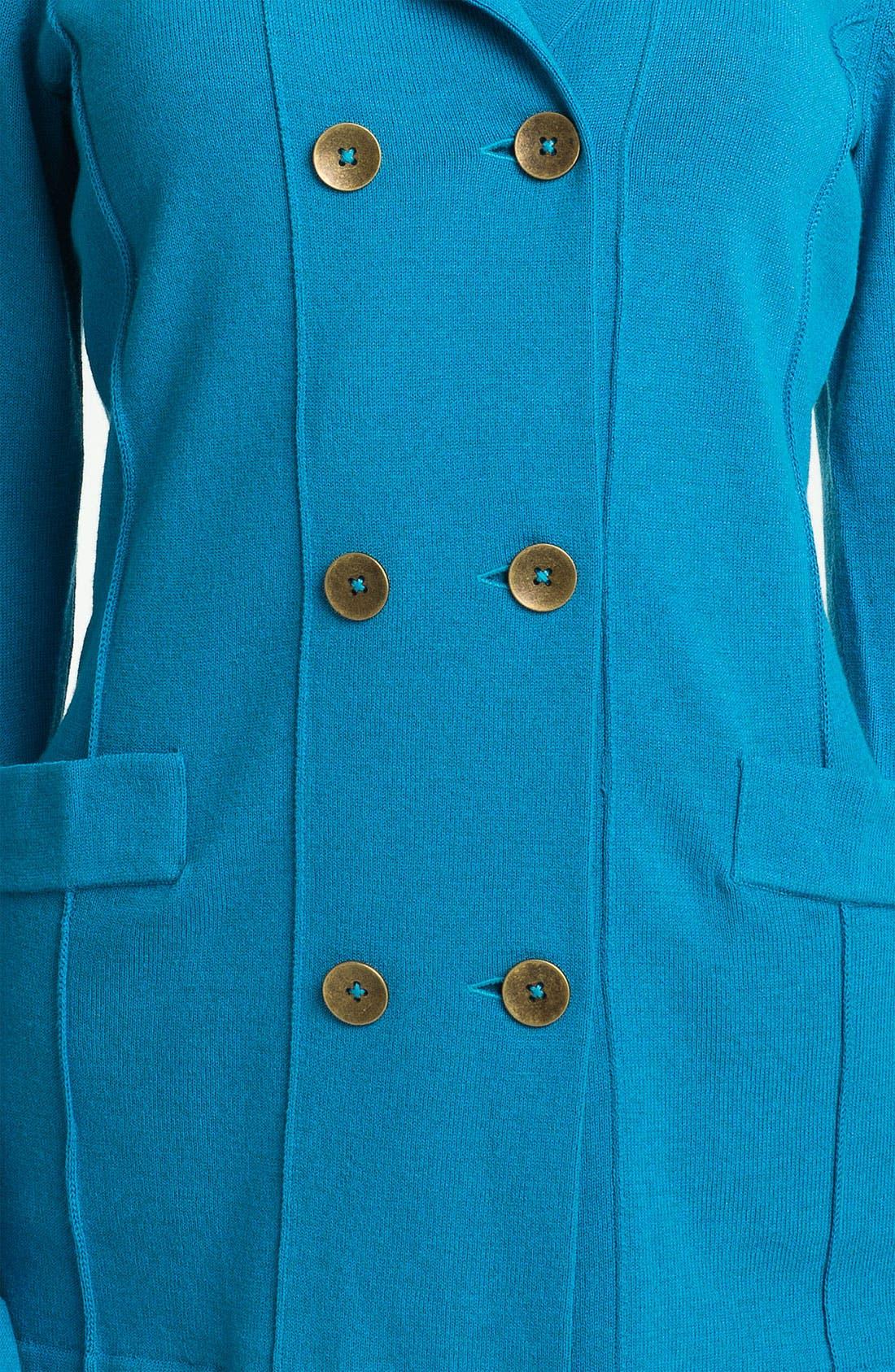 Alternate Image 3  - Nic + Zoe Double Breasted Knit Jacket