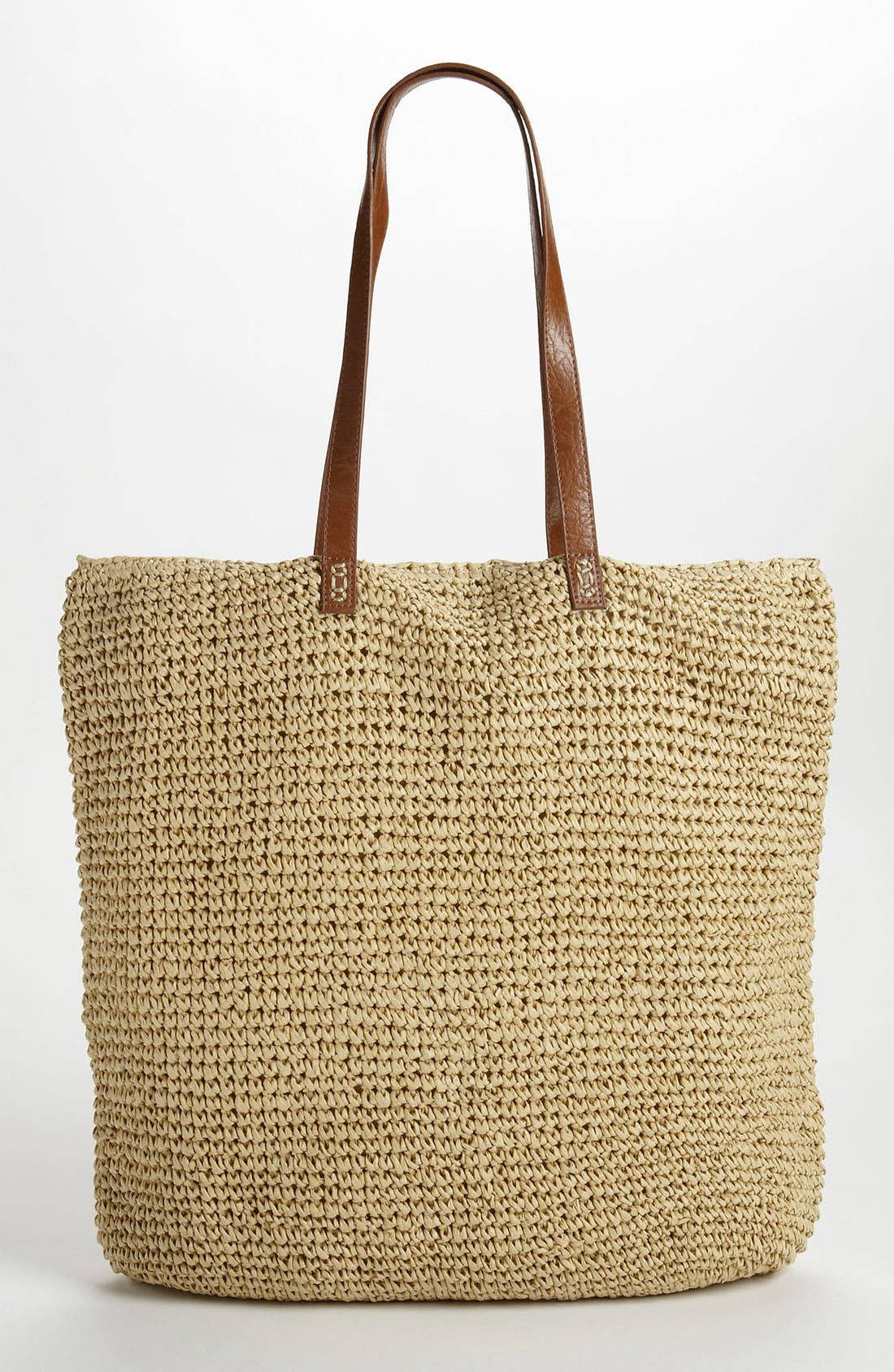 Alternate Image 4  - Straw Studios 'North South' Straw Tote