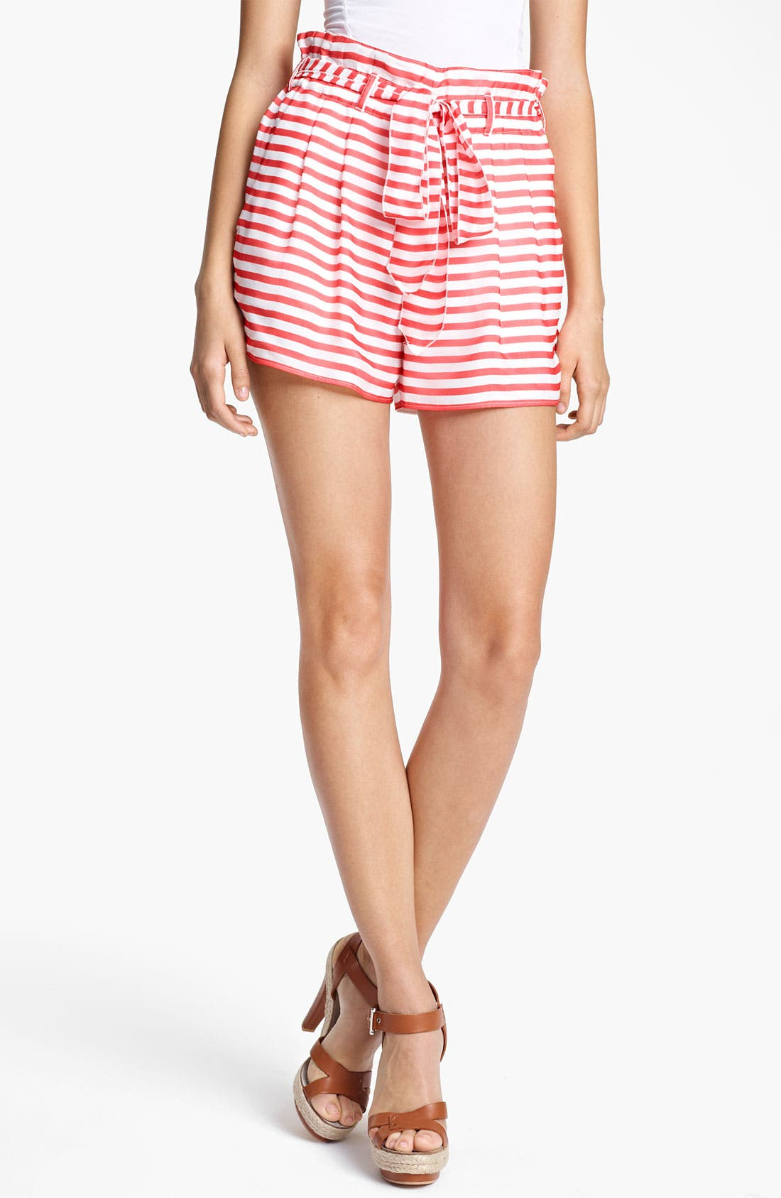 Alternate Image 1 Selected - Armani Collezioni Nautical Stripe Shorts