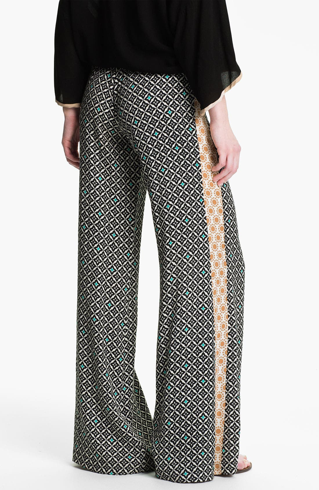 Alternate Image 2  - Ella Moss 'Sun Tile' Mix Print Palazzo Pants