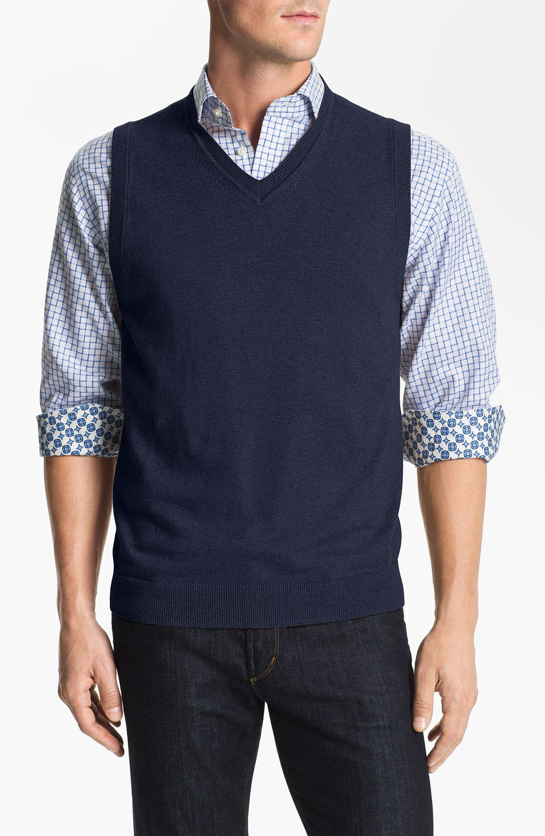Alternate Image 1 Selected - Nordstrom Cotton & Cashmere Sweater Vest