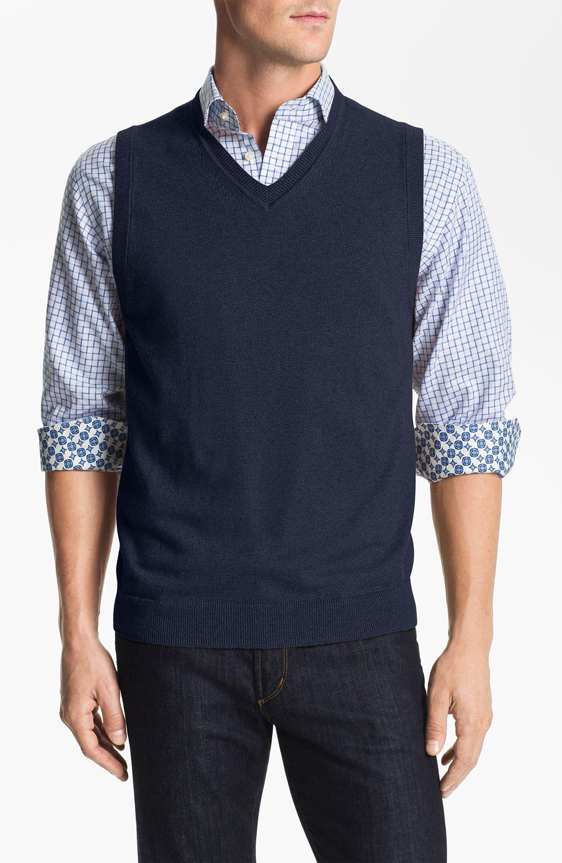 Main Image - Nordstrom Cotton & Cashmere Sweater Vest