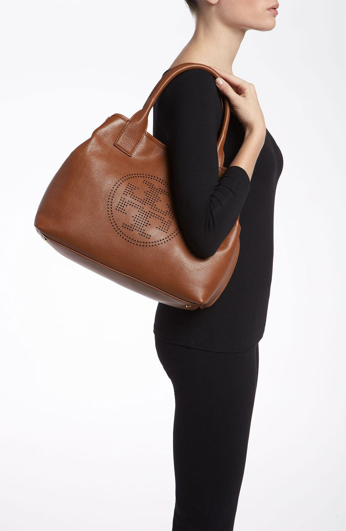 Alternate Image 2  - Tory Burch 'Small' Perforated Logo Classic Tote