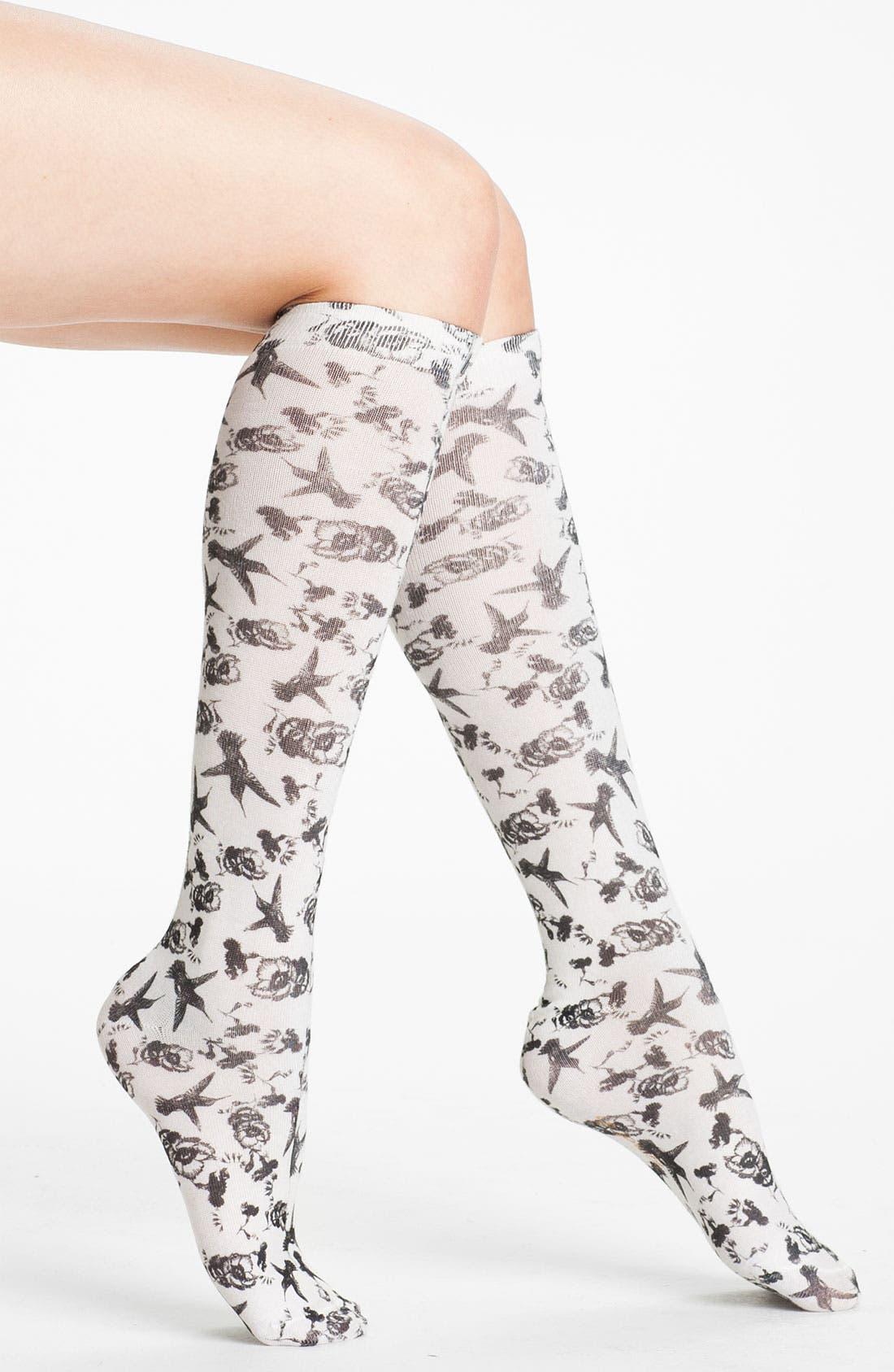 Main Image - Kensie 'Hummingbird' Knee High Socks