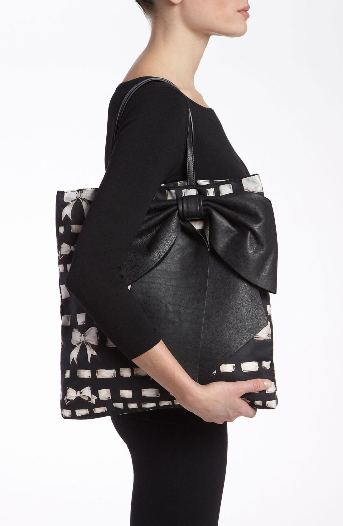 Alternate Image 2  - RED Valentino 'Bow - Ribbon & Bow' Print Tote