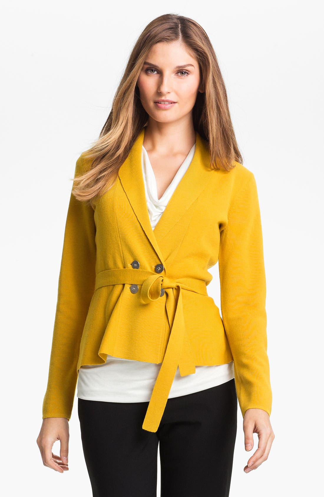 Alternate Image 1 Selected - Classiques Entier® Peplum Sweater Jacket
