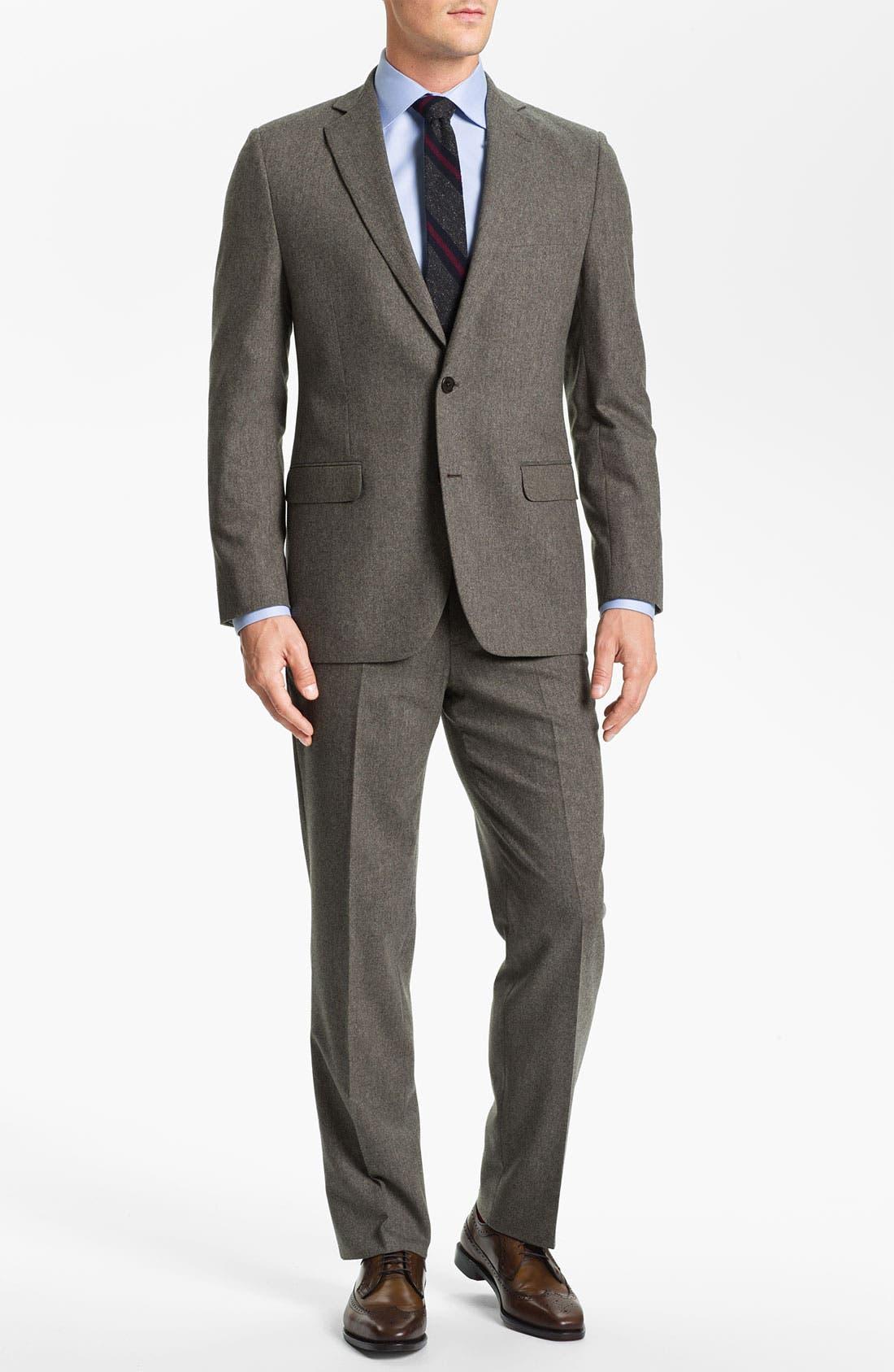 Alternate Image 2  - Brooks Brothers Tweed Wool Suit