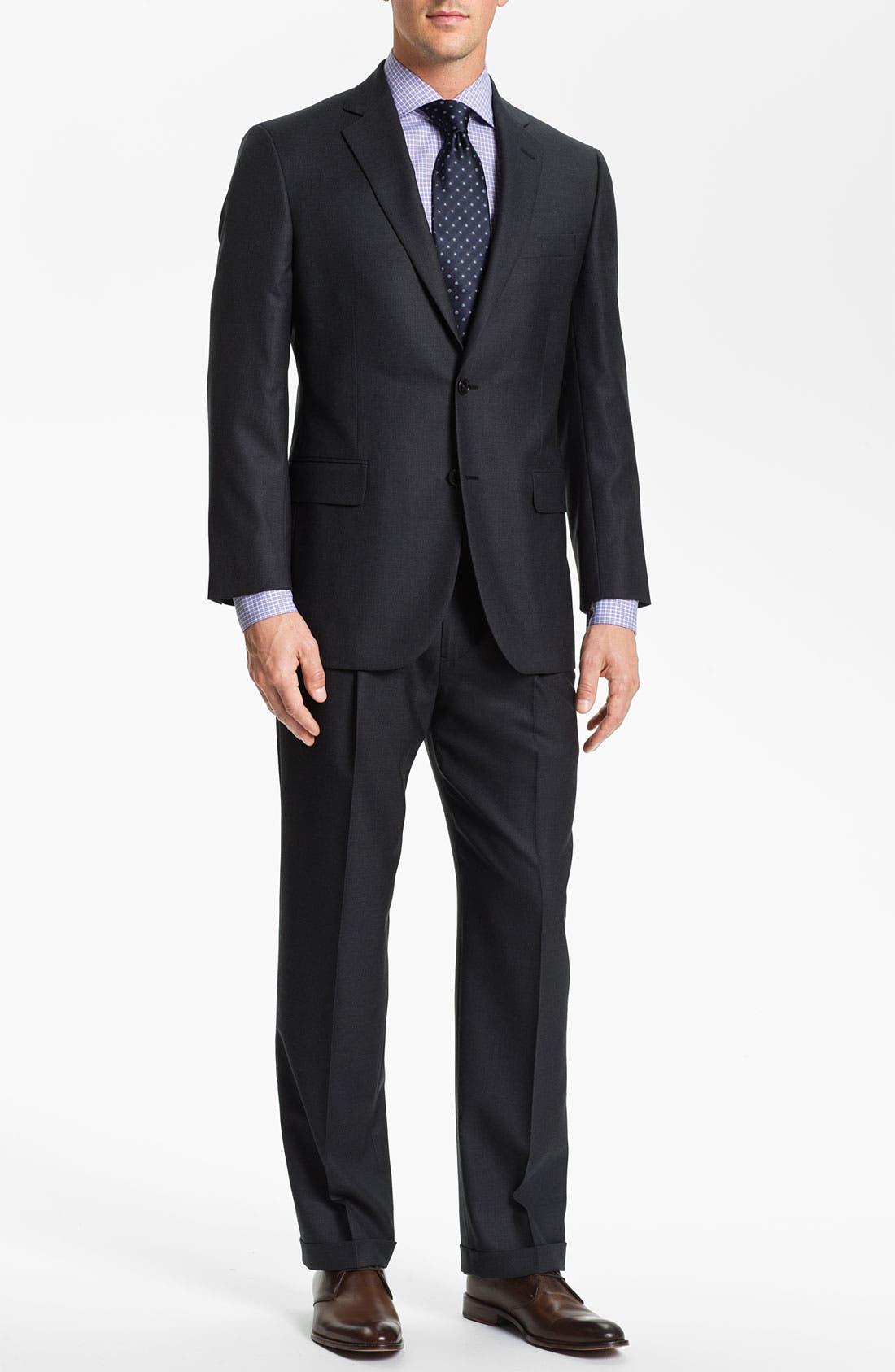 Alternate Image 2  - Brooks Brothers 'Madison' Wool Suit