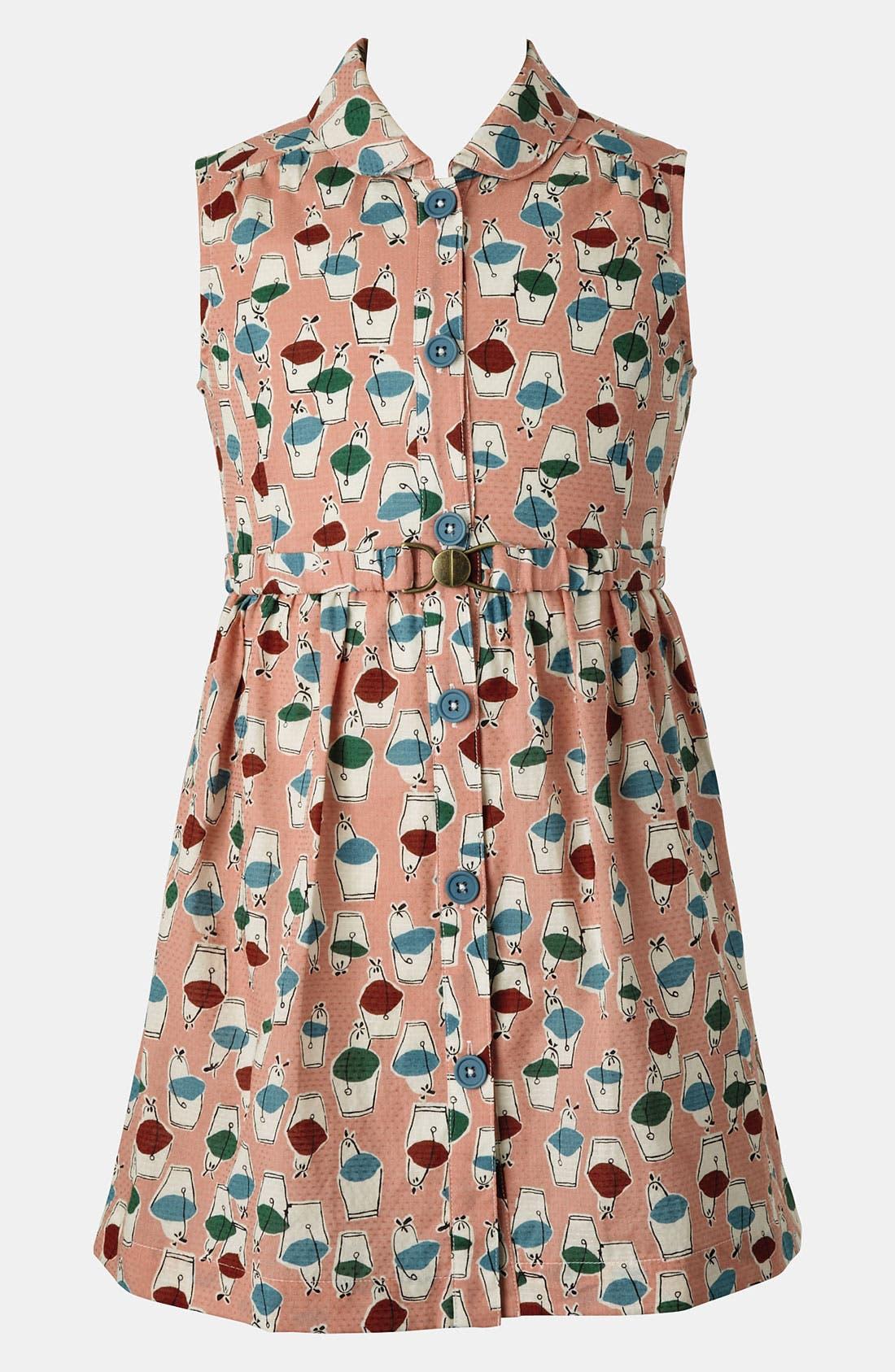 Main Image - Mini Boden 'Fifties' Shirtdress (Big Girls)
