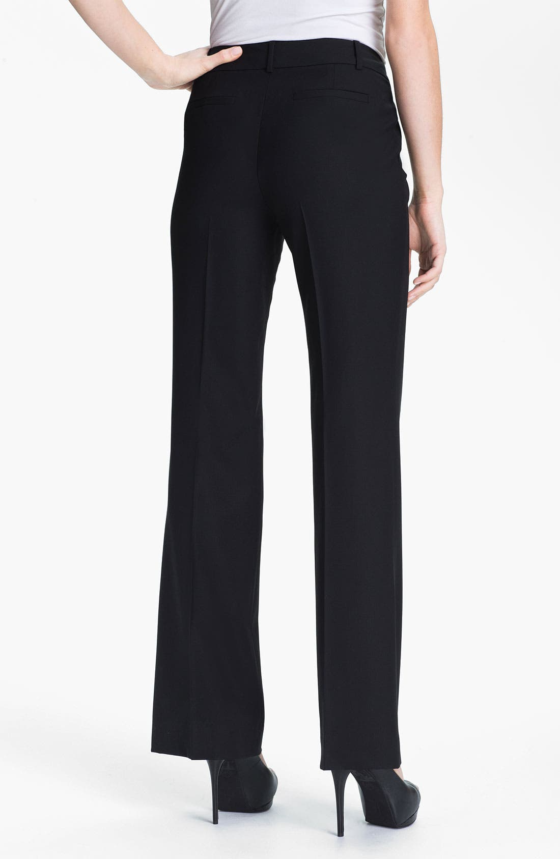Classiques Entier Stretch Wool Pants,                             Alternate thumbnail 2, color,                             Black