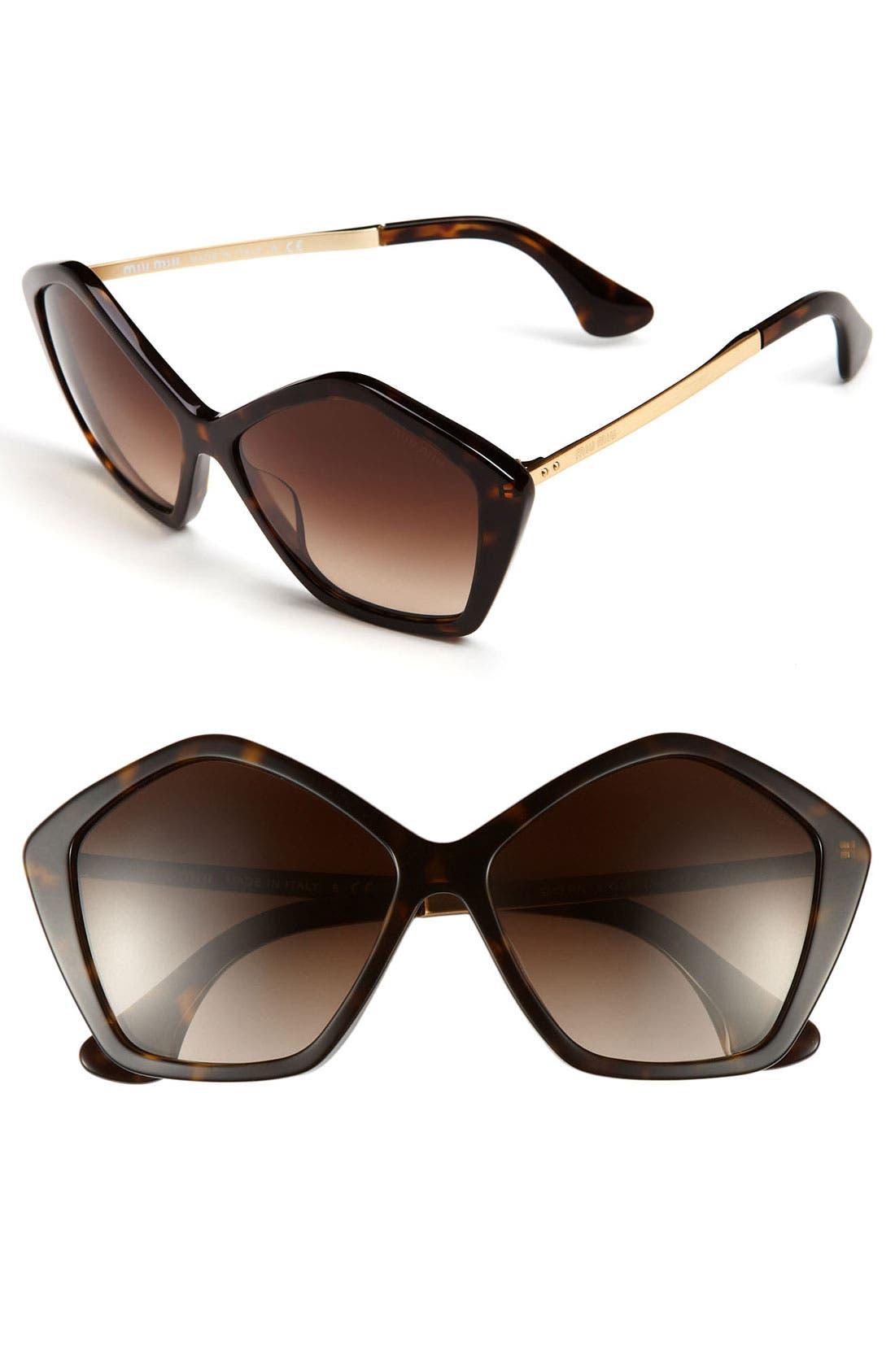 Main Image - Miu Miu 'Culte Collection' 57mm Geometric Sunglasses