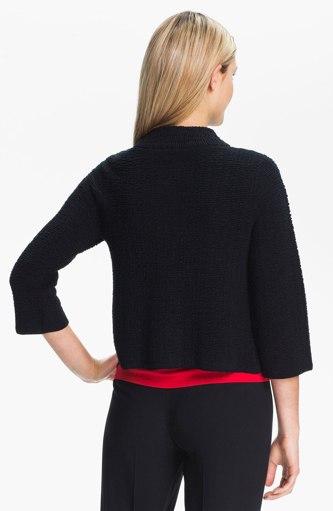 Alternate Image 2  - Eileen Fisher Silk Blend Jacquard Jacket (Petite)