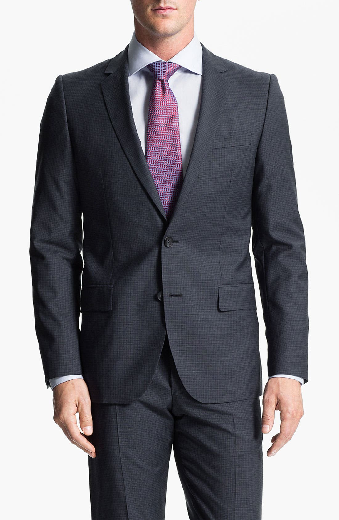 Alternate Image 1 Selected - HUGO 'Amaro/Heise' Trim Fit Suit
