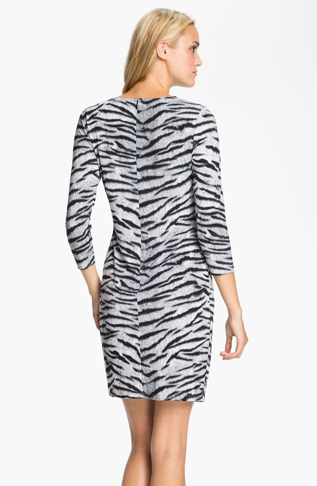 Alternate Image 2  - MICHAEL Michael Kors Knot Front Dress (Petite)