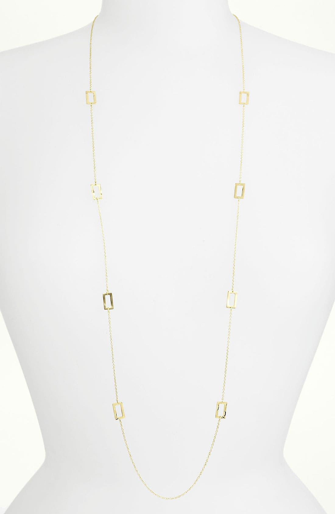 Alternate Image 1 Selected - Ippolita 'Plain' Long Rectangle Station 18k Gold Necklace