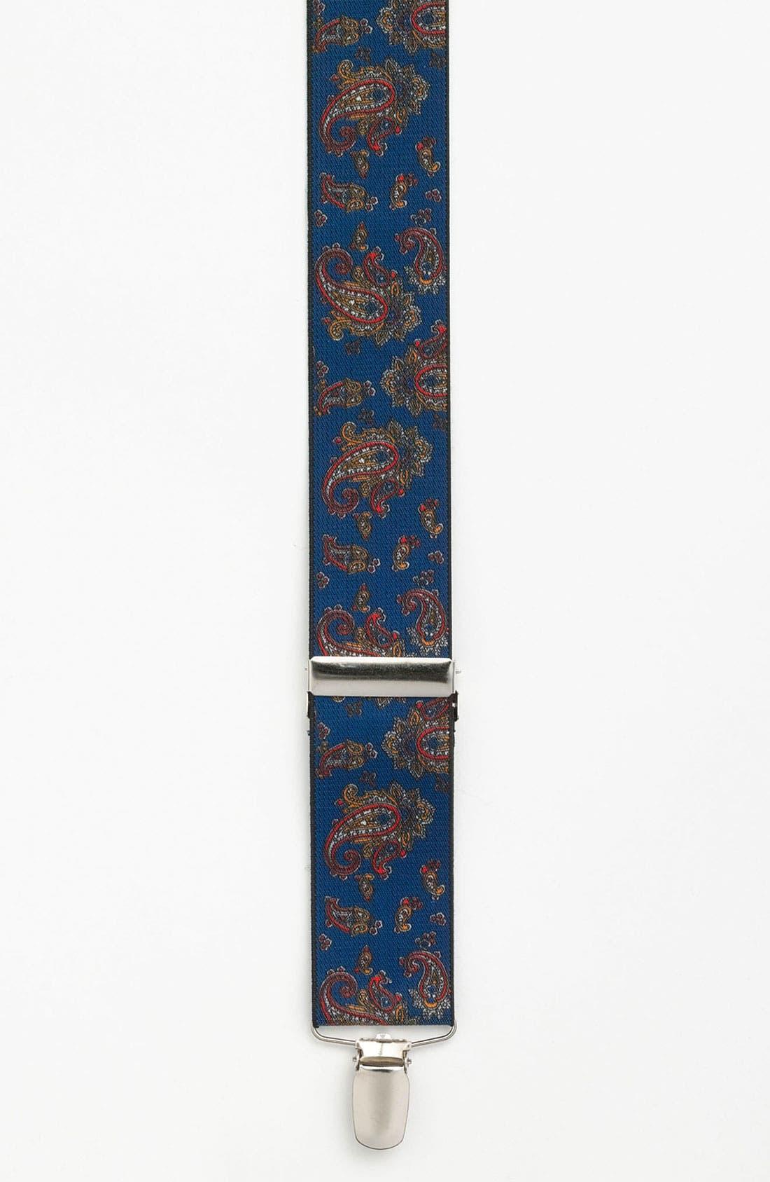 Main Image - Topman Paisley Print Suspenders