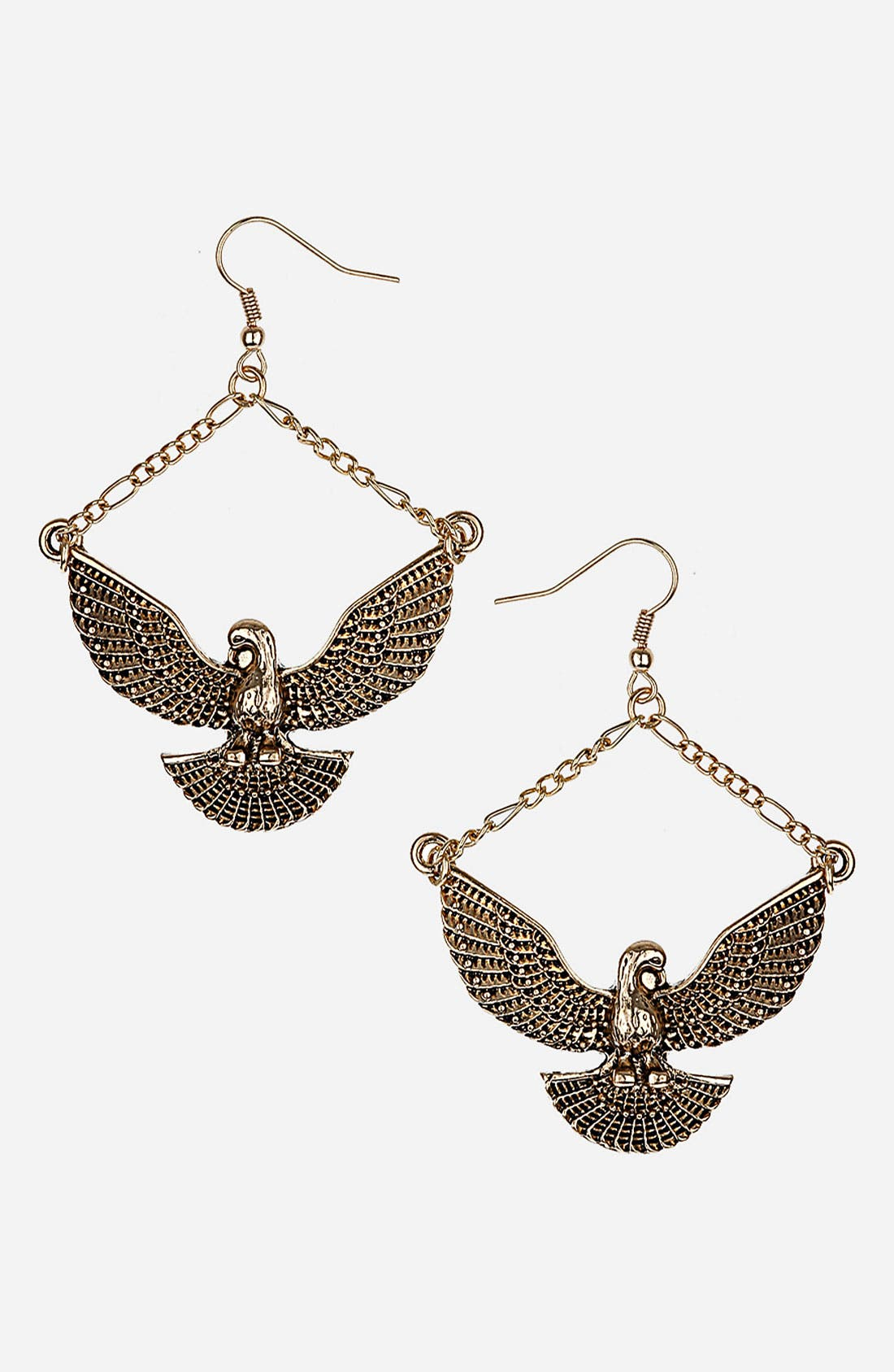 Main Image - Topshop 'Eagle Drop' Earrings
