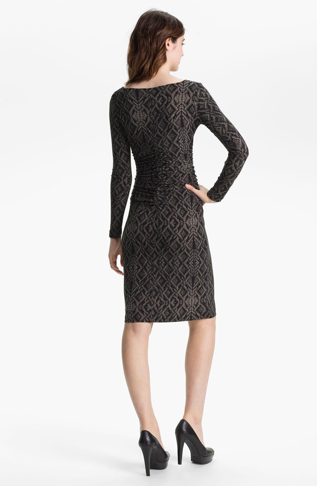 Alternate Image 2  - KAMALIKULTURE Contoured Print Sheath Dress