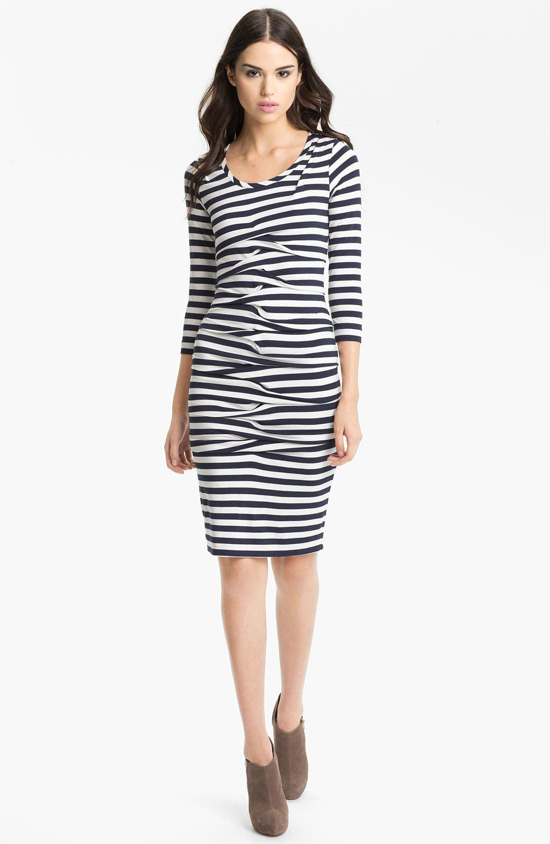 Alternate Image 1 Selected - Nicole Miller Stripe Jersey Sheath Dress