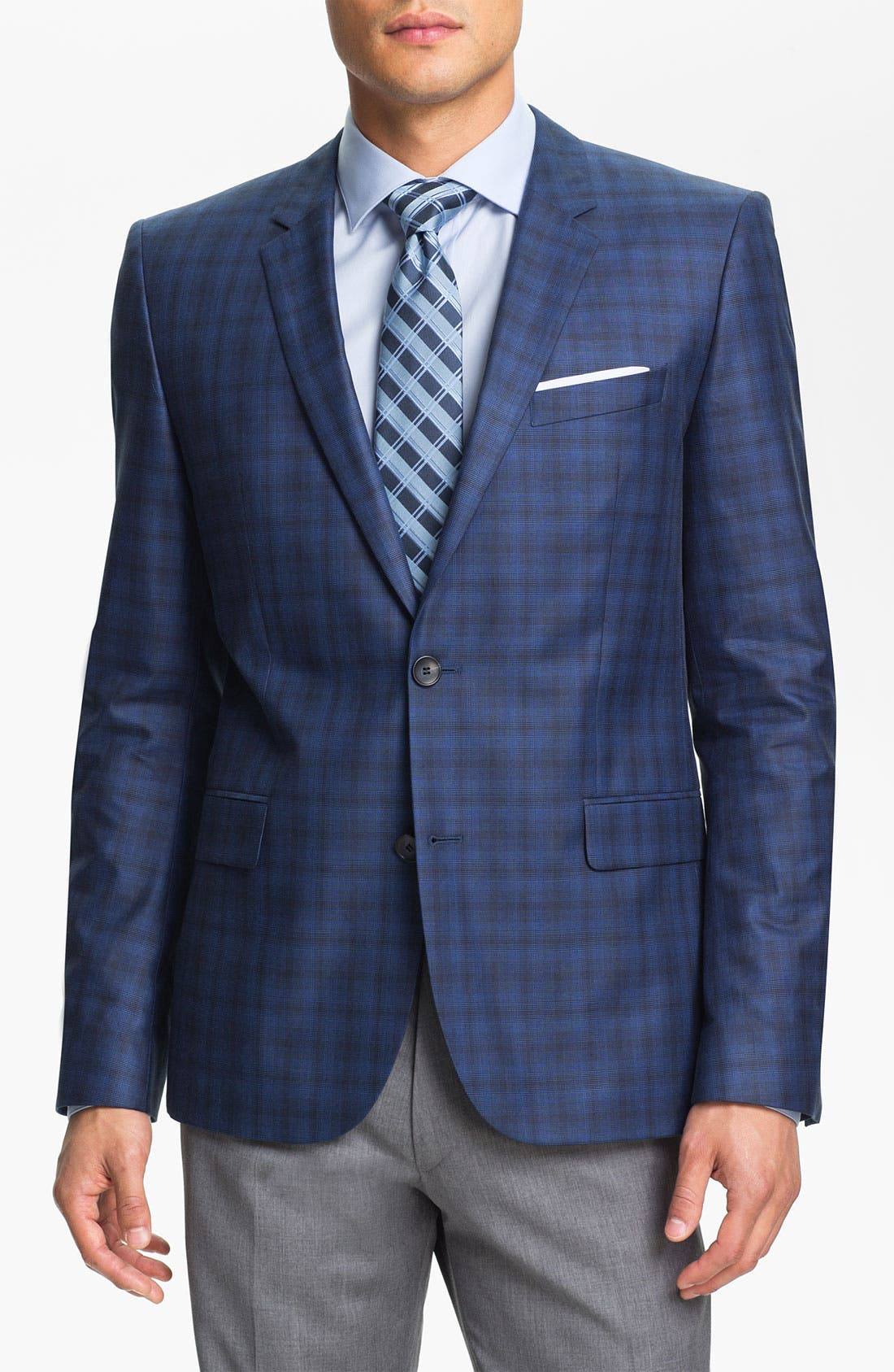 Alternate Image 1 Selected - HUGO 'Amares' Trim Fit Plaid Sportcoat