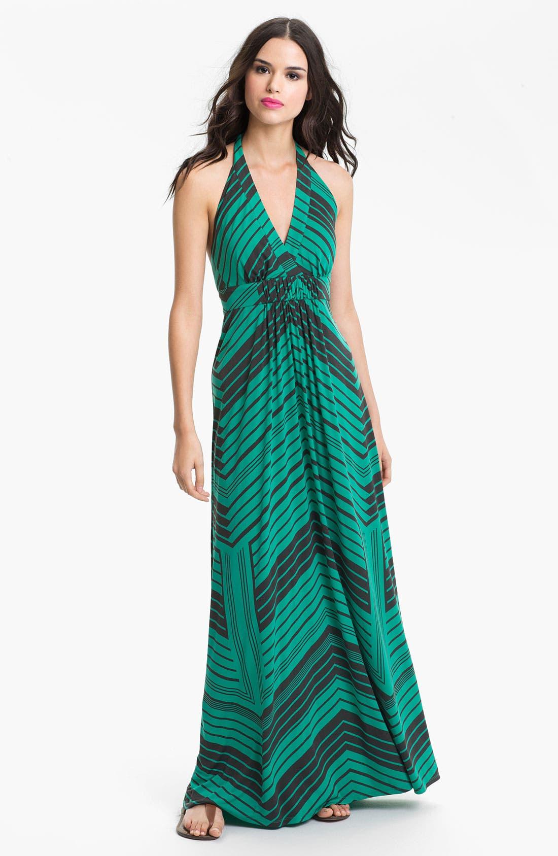 Alternate Image 1 Selected - Jessica Simpson Stripe Halter Maxi Dress