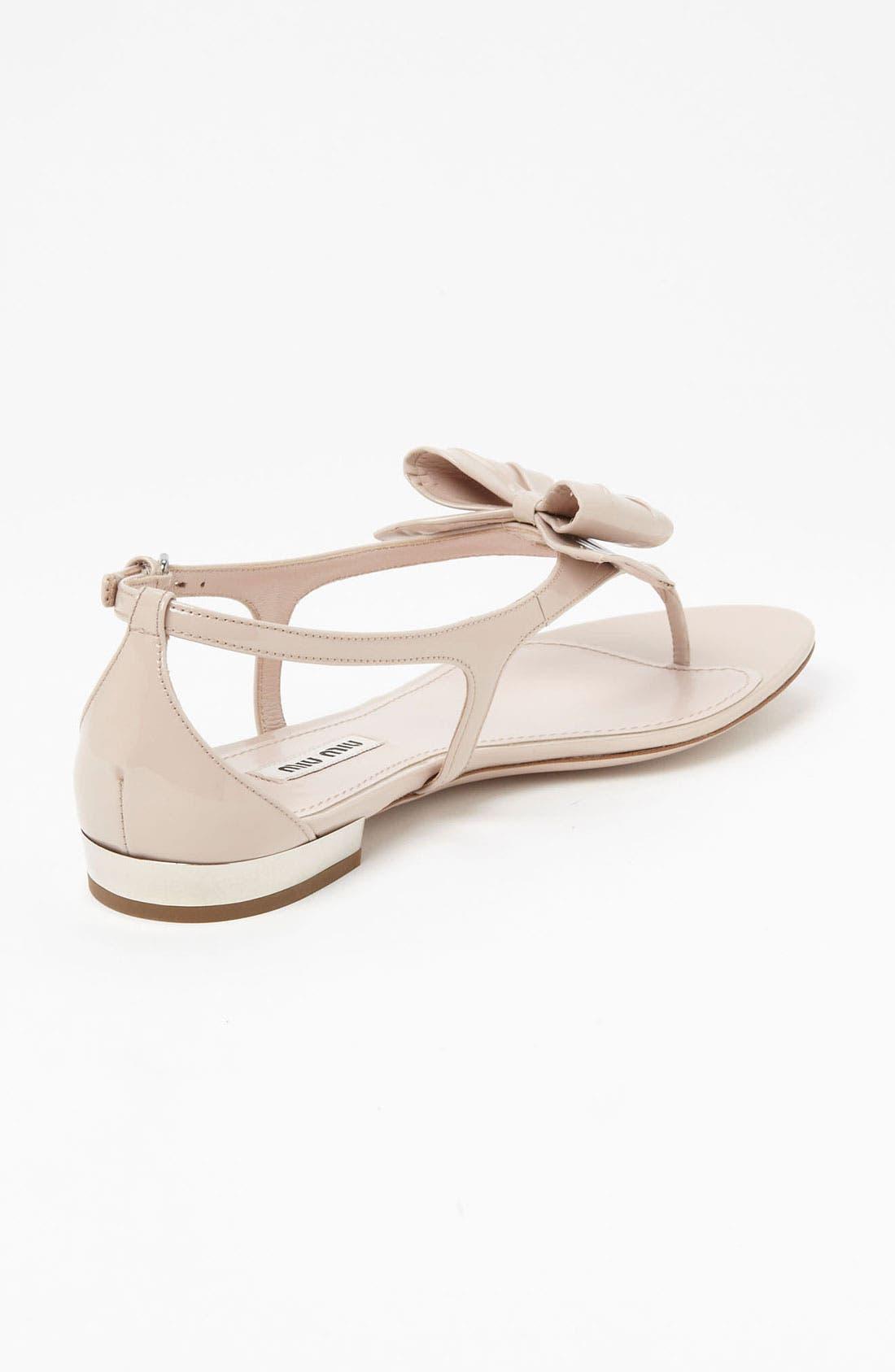Alternate Image 2  - Miu Miu T-Strap Bow Sandal