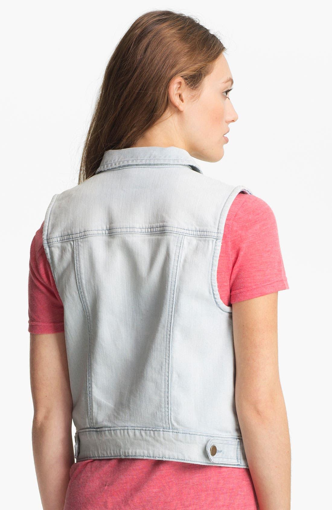 Alternate Image 2  - Rubbish® Denim Vest (Juniors)