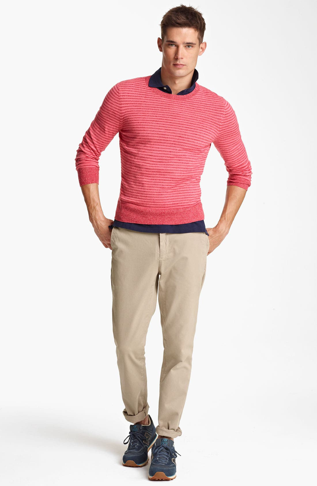 Alternate Image 4  - Jack Spade 'Judson' Stripe Merino Wool Crewneck Sweater
