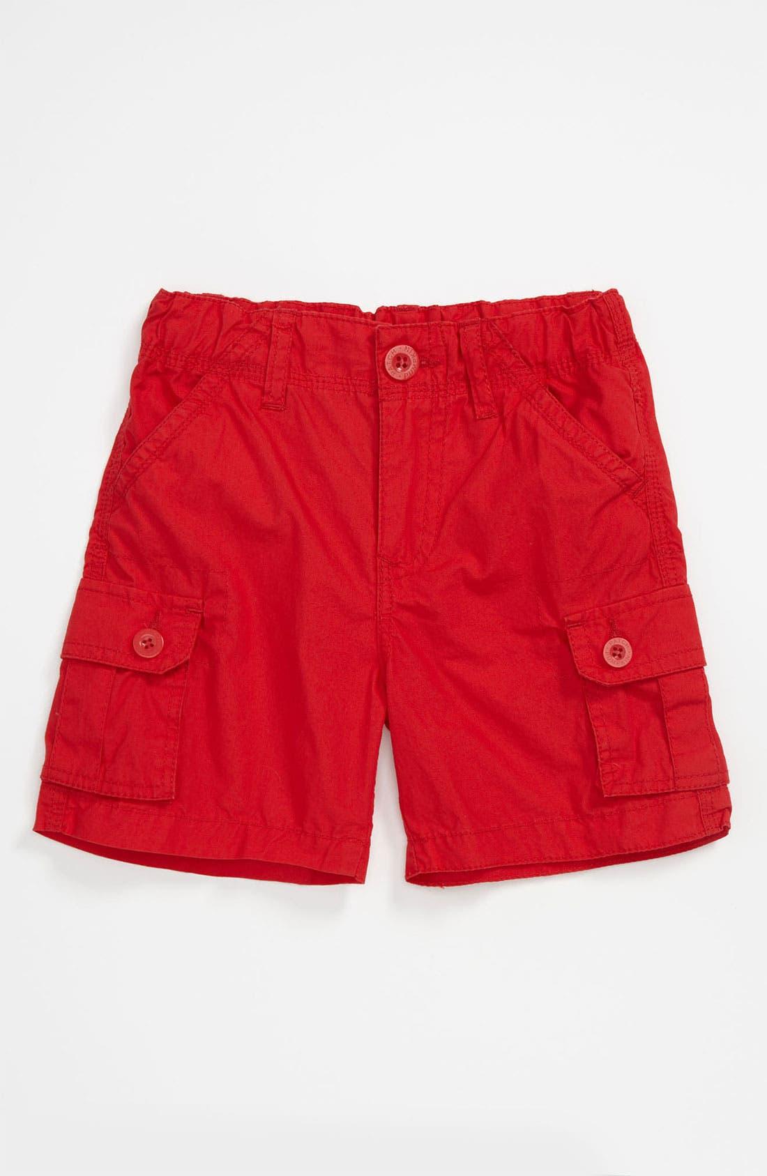 Main Image - Pumpkin Patch Poplin Shorts (Infant)