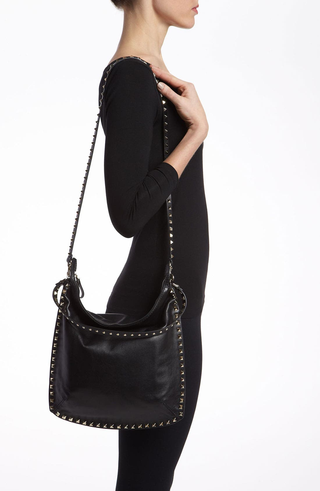 Alternate Image 2  - Valentino 'Small Rockstud' Leather Hobo