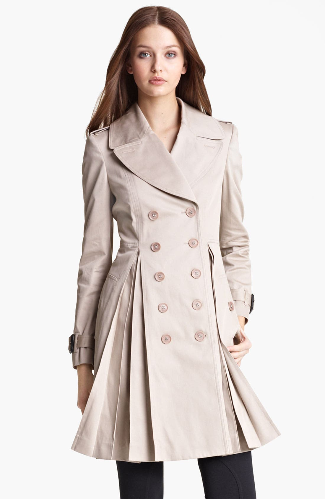 Alternate Image 2  - Burberry London Pleated Trench Coat