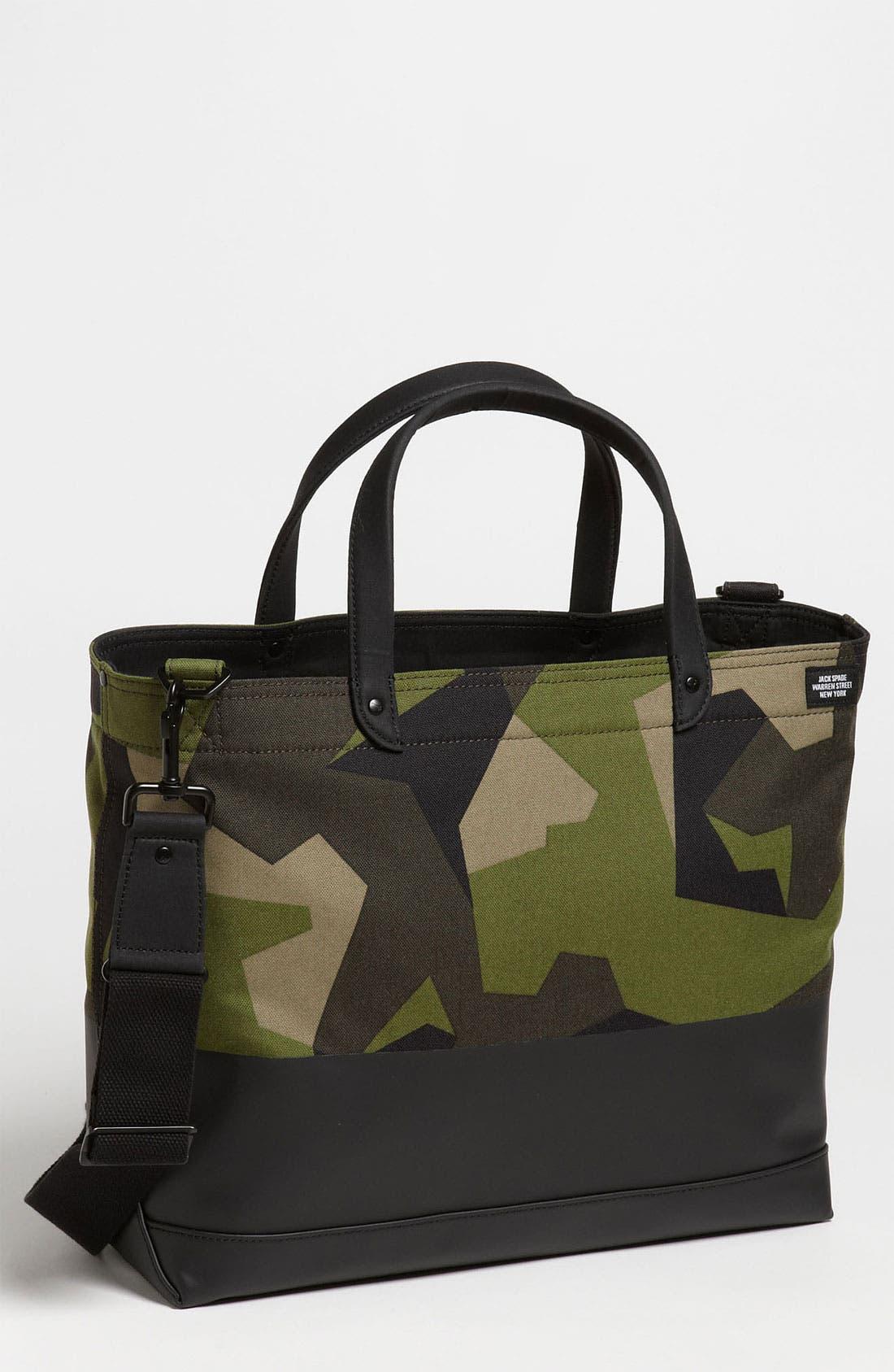 Alternate Image 1 Selected - Jack Spade 'Coal' Camo Tote Bag