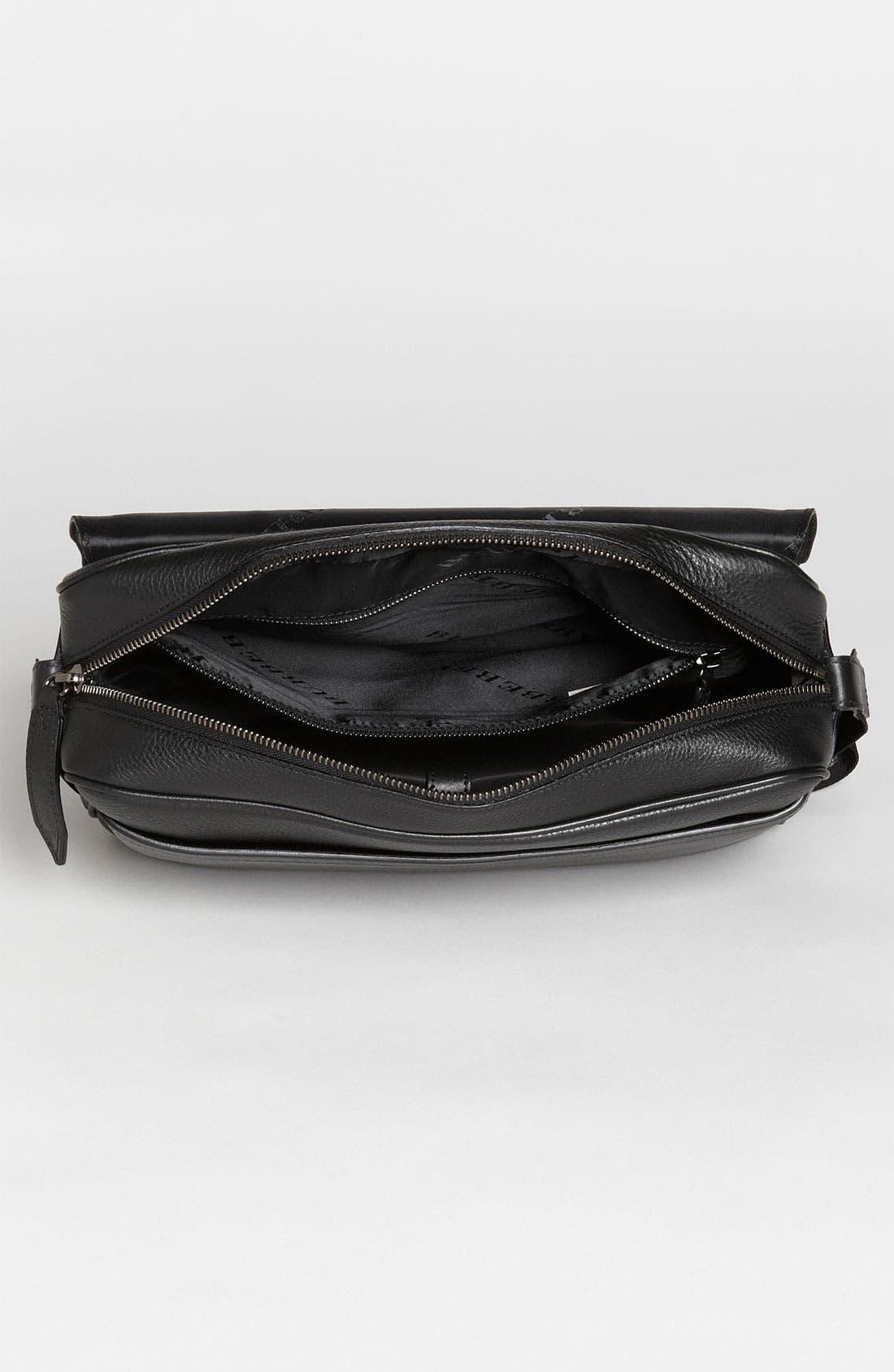 Alternate Image 3  - Burberry 'Emmett' Check Embossed Leather Messenger Bag