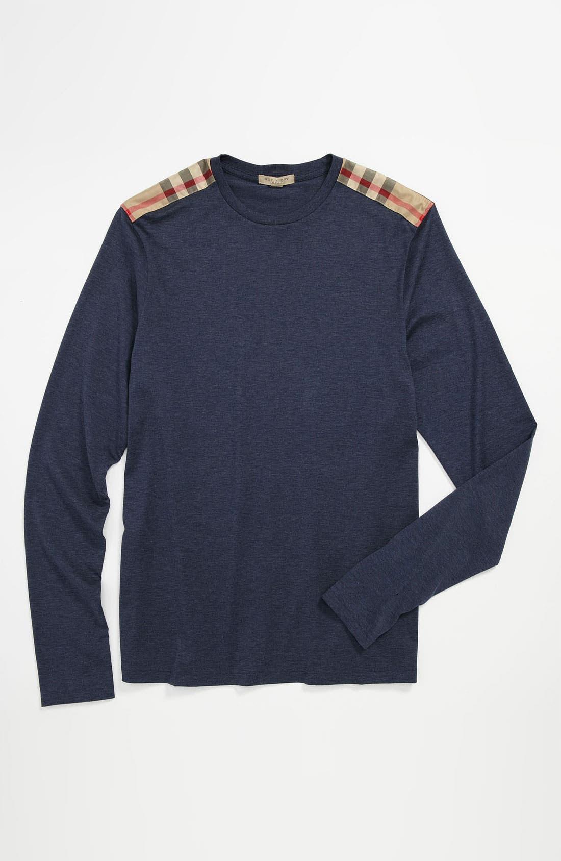 Alternate Image 4  - Burberry Brit Check Trim Crewneck T-Shirt