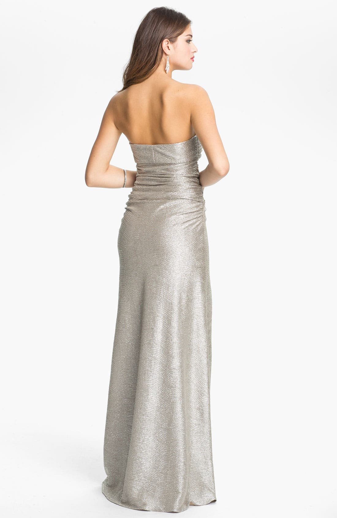 Alternate Image 2  - Hailey by Adrianna Papell Metallic Jersey Gown (Online Exclusive)