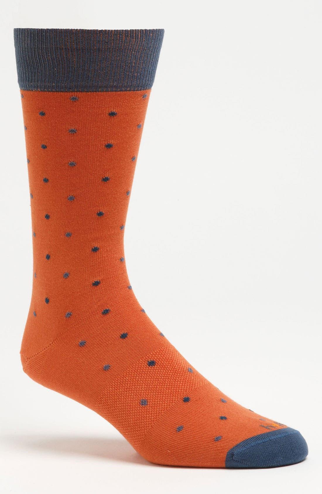 Alternate Image 1 Selected - hook + ALBERT Multi Dot Socks
