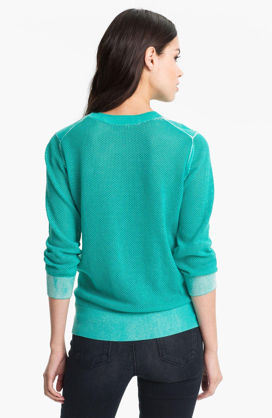 Alternate Image 2  - Rebecca Minkoff 'Ontario' Mesh Panel Sweater