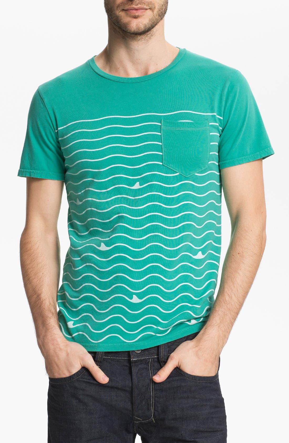 Alternate Image 1 Selected - Altru 'Shark Lines' Pocket T-Shirt
