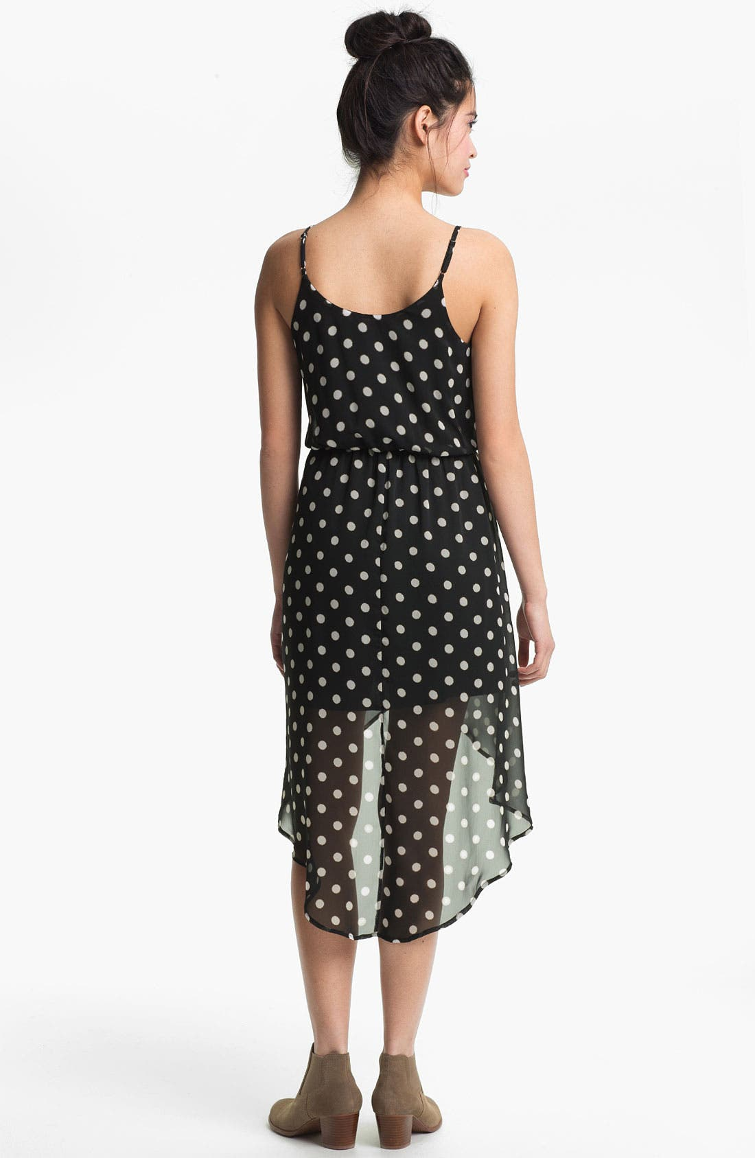 Alternate Image 2  - High/Low Print Chiffon Dress