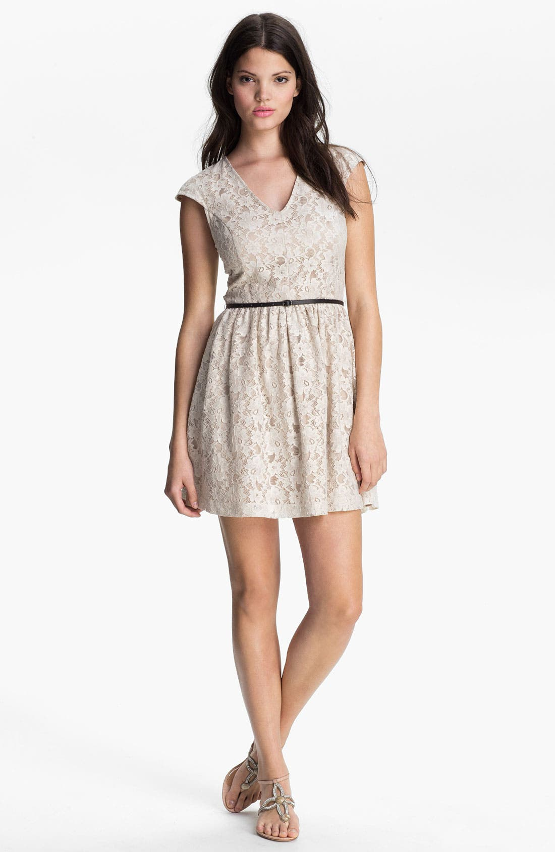 Main Image - Kensie Floral Lace Dress