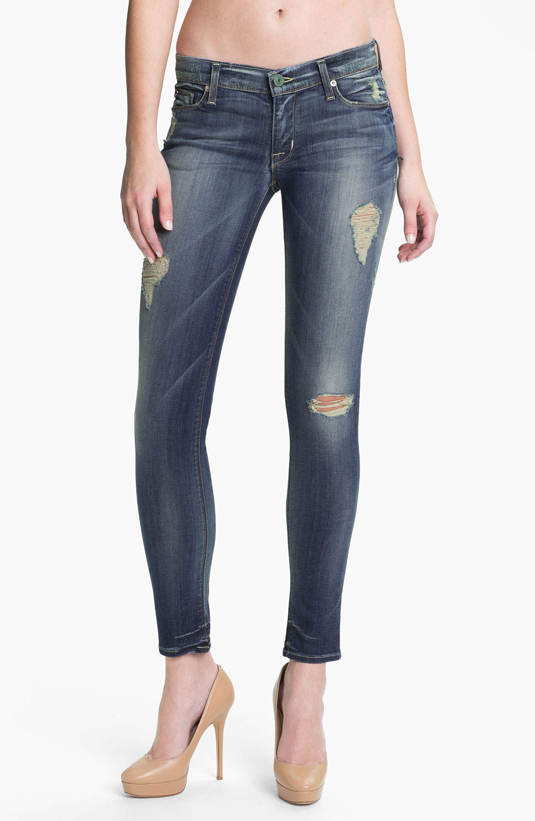 Main Image - Hudson Jeans 'Krista' Super Skinny Jeans (Blondie)