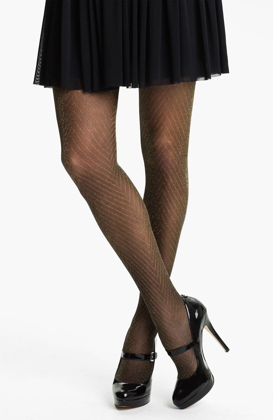 Alternate Image 1 Selected - Nordstrom 'Sparkle' Chevron Thigh High Stockings