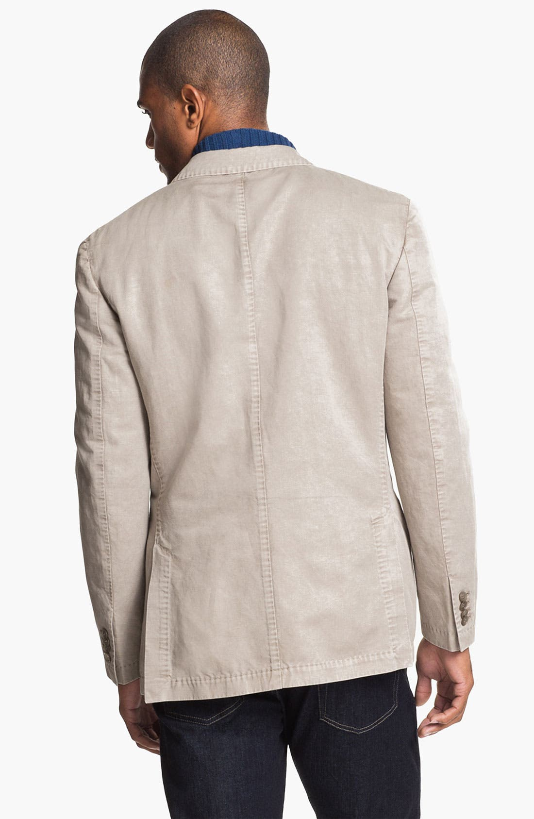 Alternate Image 2  - Canali Washed Cotton & Linen Sportcoat