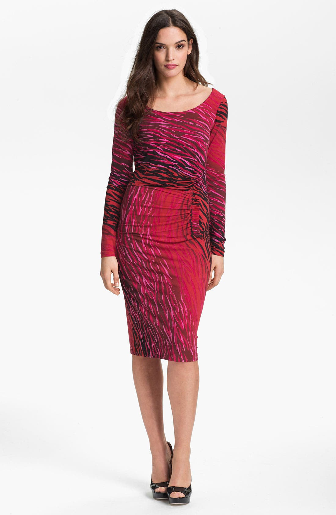 Main Image - Anne Klein Ombré Zebra Print Dress