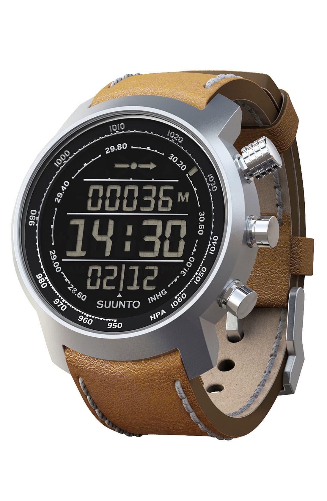 Alternate Image 2  - Suunto 'Terra' Leather Strap Watch, 51mm