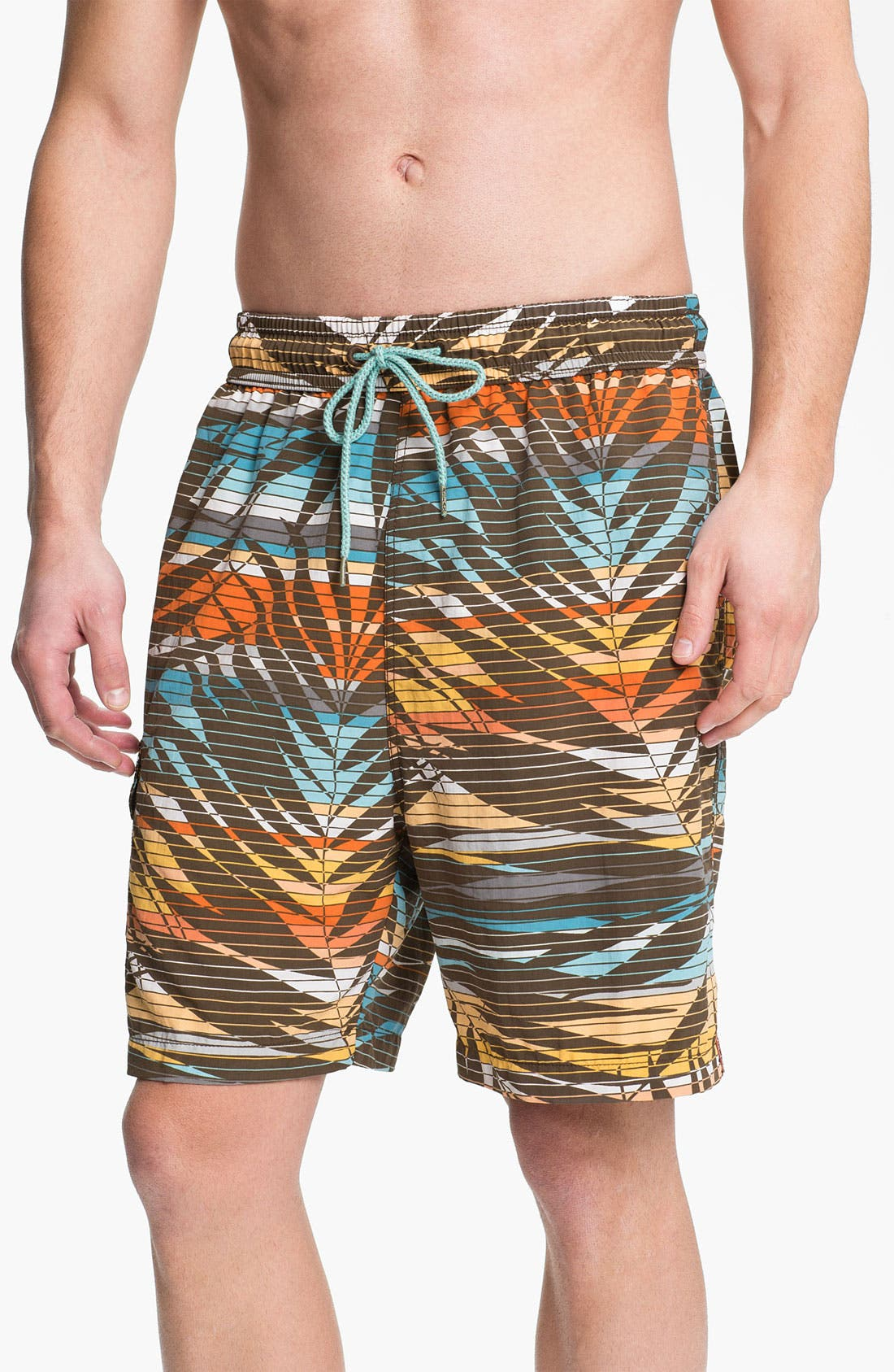 Main Image - Tommy Bahama 'Fern Baby Fern' Swim Trunks (Big & Tall) (Online Only)