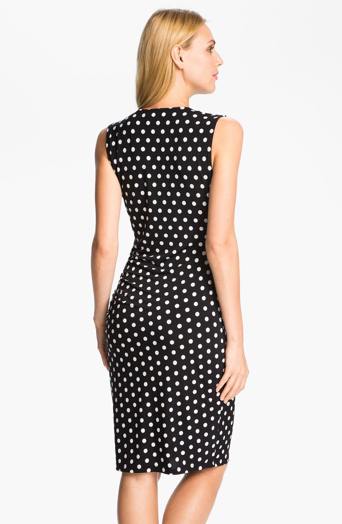 Alternate Image 2  - MICHAEL Michael Kors Sweetheart Neck Dot Dress (Petite)