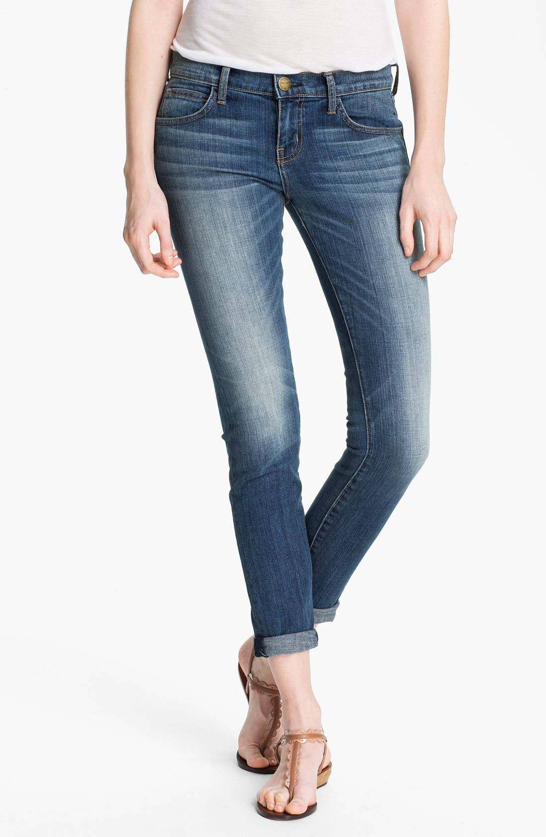 Alternate Image 1 Selected - Current/Elliott 'The Rolled Skinny' Stretch Jeans (Yesterday)