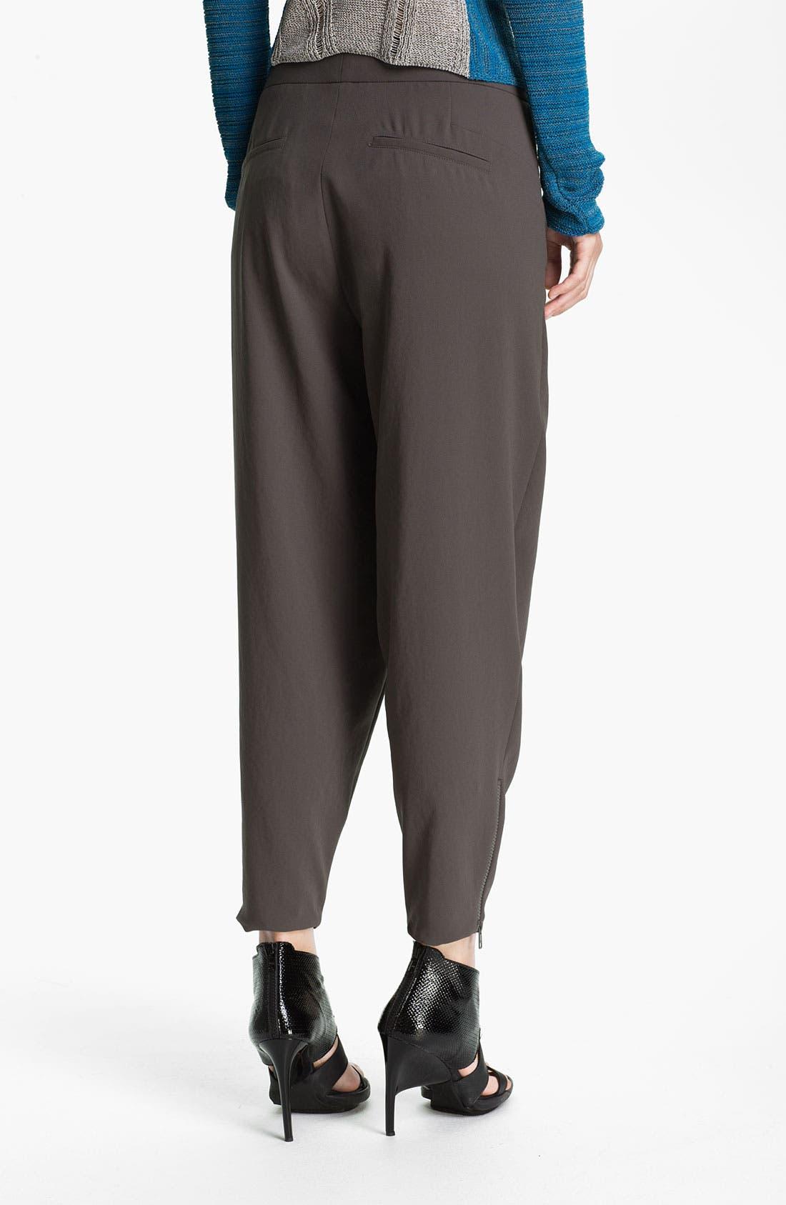 Alternate Image 2  - Helmut Lang Pleated Crepe Crop Pants